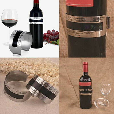 Wine Bottle Stainless Steel LCD Display Serving Bracelet Thermometer Pro CLLL