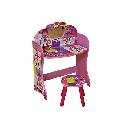 """Fashion Girl"" Dressing Table & Stool / Children's Bedroom Furniture"