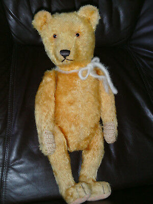 alter Teddy >> Willy Weiersmüller << apricot ~ 40 cm aus den 20er Jahren