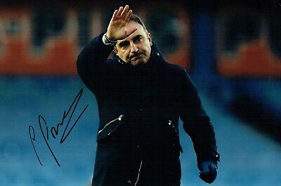 Carlos CARVALHAL Swansea City Manager SIGNED 12x8 Photo A AFTAL Autograph COA