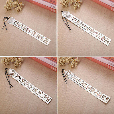 4pcs Bookmark Ruler Ultra thin Metal Fairy Tale Creative school Kids stat Gift
