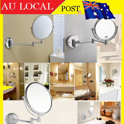 Wall Mount Dual Sided Bathroom Shaving Beauty Makeup Cosmetic Magnifying Mirror