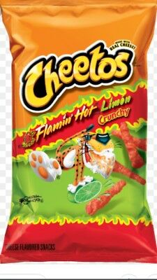 CHEETOS Crunchy Flamin' Hot Limon Cheese Flavored Snack. ...