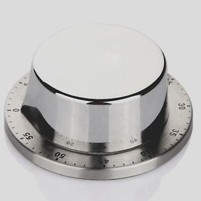 Stainless Steel Durable Kitchen Mechanical Timer Magnetic Cooking Minutes oolk