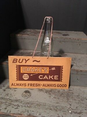 Vintage Rare 1930s Drakes Cakes Hanging Store Sign