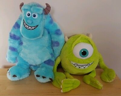 Large Mike and Sully from Disney Monsters Inc soft toy/ plush set