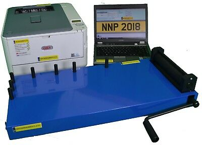 Number Plate Printer Maker Machine System Professional Level