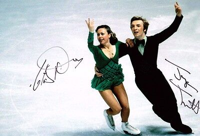 Jayne TORVILL & Christopher DEAN SIGNED Autograph 10x8 Photo 1 AFTAL COA Skaters