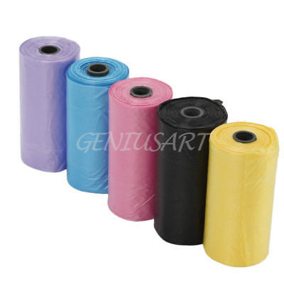 5Rolls Pet Poo Poop Bag Dog Cat Waste Garbage Pick Up Clean Refill Garbage Bag