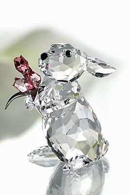Swarovski Crystal Rabbit With Tulips 1177251 Mint Boxed Retired Rare