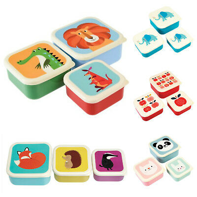 3er Set Brotbox Brotdose Lunchbox Snackbox Kindergarten Obst Picknick Vesper
