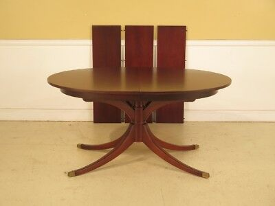 LF42765: DREXEL Vintage Travis Court 1940 s Mahogany Dining Room Table