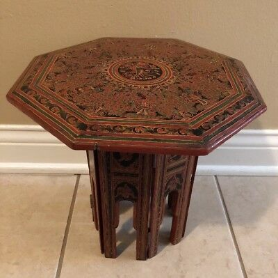 Vintage Hand Painted Chinese Tibetan Table