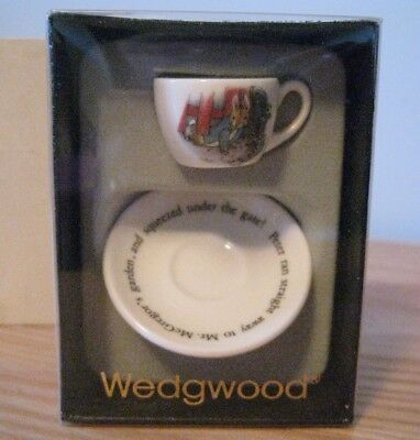 Wedgwood Miniature Peter Rabbit China Cup & Saucer Set, Boxed. Excellent Cond.