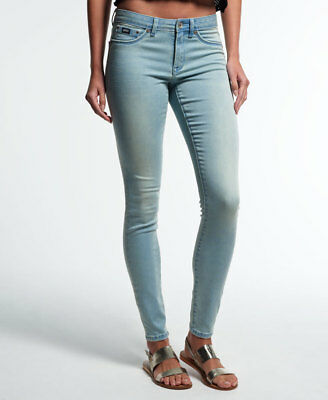 Womens Superdry Alexia Jegging Jeans Beach Blue