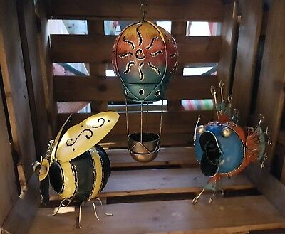 tea light holder standing or hanging ornament Hot air balloon indoors or outd