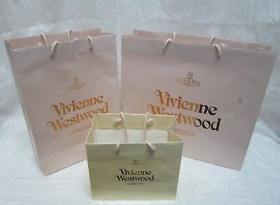 4 Vivienne Westwood London Empty Christmas Gift Paper Bags With String Handles