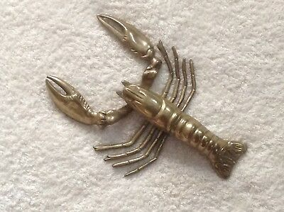 Solid brass lobster with articulation