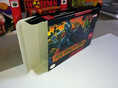 Super Ghouls and Ghosts SNES Nintendo Replacement Box/Art Case ONLY!!!