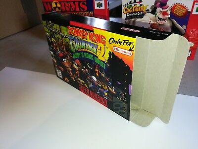 Donkey Kong Country 2: Diddy's Kong Quest Nintendo Replacement Box/Art Case ONLY