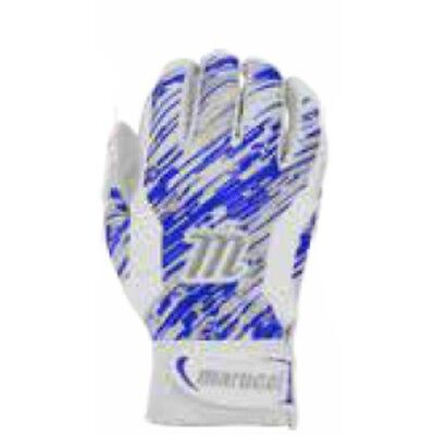 Marucci Quest Batting Gloves - White/Royal - S - MBGQST-White/Royal-S