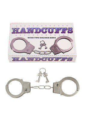 METAL HANDCUFFS KEYS Hen Stag Sex Aid Police Toy Play Fancy Party Kinky Sexy
