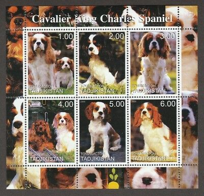 CAVALIER KING CHARLES SPANIEL ** Int'l Dog Postage Stamp Sheet ** Unique  Gift*