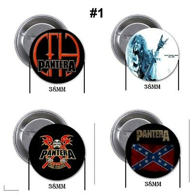 Pantera , new - 4 chapas, pin, badge, button