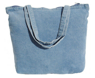 "18""x14""x4 Zippered Canvas or Denim Tote Bag"
