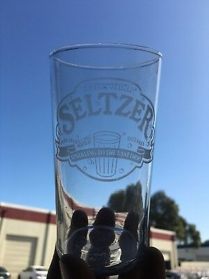 Etched Alhambra Seltzer Water ~ Vintage Soda Fountain Glass - Early Vintage