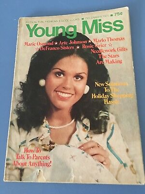 MARIE OSMOND 'YOUNG MISS' MAGAZINE-DEC. 1975 donny and marie