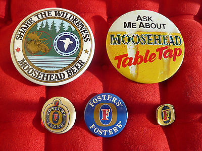 Lot 65 badges broches PINs biere  BRASSERIE AUSTRALIE MEXIQUE USA CANADA VINTAGE