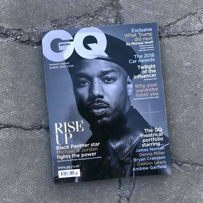 GQ Magazine British March 2018 Michael B Jordan Marvel Studios Black Panther NEW