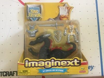 FISHER PRICE IMAGINEXT KING ARTHUR Sir Lancelot and the Dragon H2385