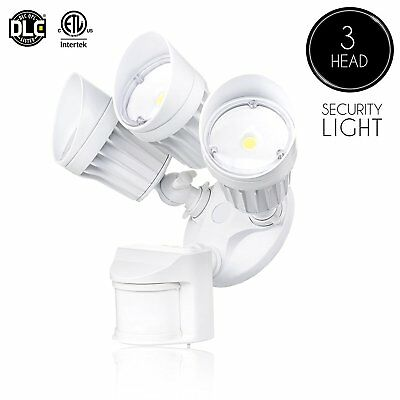 1 X 30W LED Security Light Three Headed Motion Sensor Outdoor Waterproof