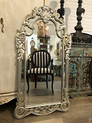 French rococo gilded wood mirror aud 3 picclick au for Floor mirror italian baroque rococo style