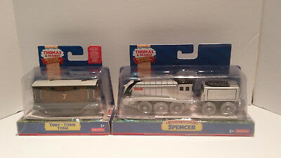 Thomas and Friends Wooden Railway- Battery Operated 2 pack- Toby & Spencer