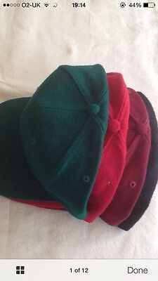 Base Ball Caps 48 Snap Back Adjustable Red Maroon Black Green Hats New Wholesale