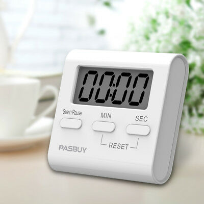PASBUY Mini Digital LCD Magnetic Kitchen Timer Cooking Alarm Stand Count Up Down