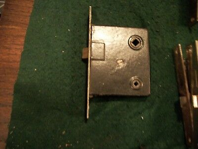 """Vintage Old Antiqe Mortise Locks- Priacy Function  -5-3/8"""" Face Plate"""