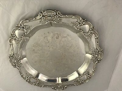 "Vintage TOWLE Old Master 15"" Round Silverplate Serving Plate Platter Tray"