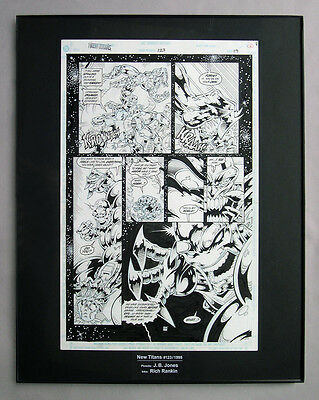 NEW TEEN TITANS #123 Pg.19 Original Comic Art ~ Rich Rankin and JB Jones