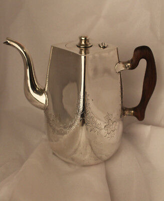 Chinese Export Silver Coffee Pot Zee Wo Shanghai Unusual Form Sterling
