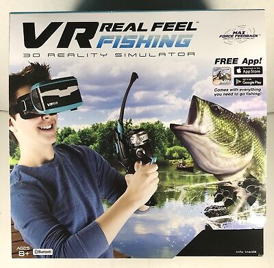 Vr Real Feel Virtual Reality Fishing Gaming System With Headset And Fishing Rod