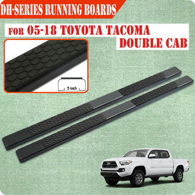"Fit 05-19 TOYOTA Tacoma Double Cab 3/"" Running Board Nerf Bar Side Step BLK B"