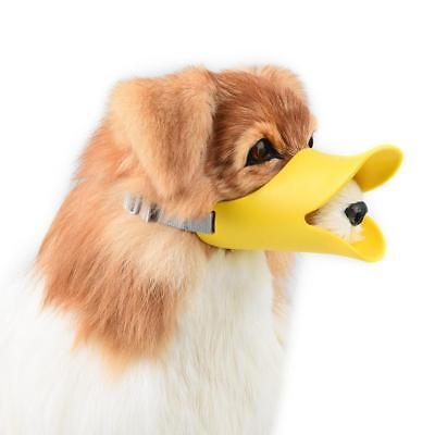 Adjustable Pet Puppy Dog Cat Muzzle Quack Duck Soft Silicone Bite Stop Creative