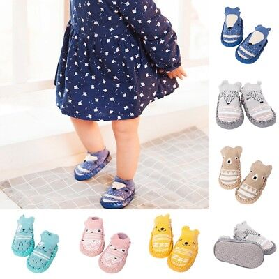 Baby Kid Toddler Girls Boys Shoes Unisex Anti-Slip Socks Shoes Slipper Soft Sock