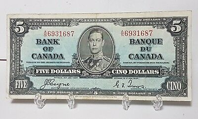 1937 Canada Five Dollar Banknote - Nice Note $5.00