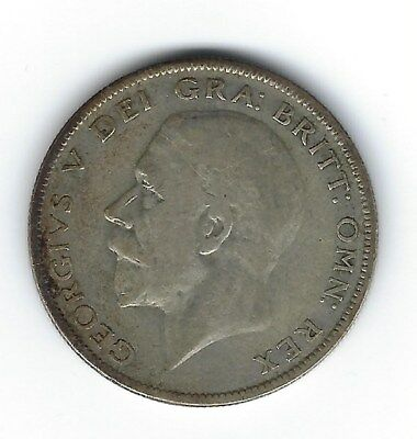 1929 Half Crown Silver Coin of Great Britain
