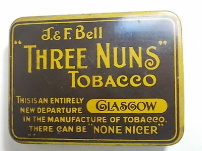 Old THREE NUNS 2oz Empty Tobacco Tin . VG